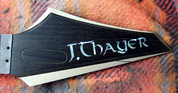 Shark Inlay,Guitar Inlay,Guitar Body Inlay,Odin,Thayer Guitars